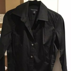 Banana Republic Black Long Sleeve Blouse - S